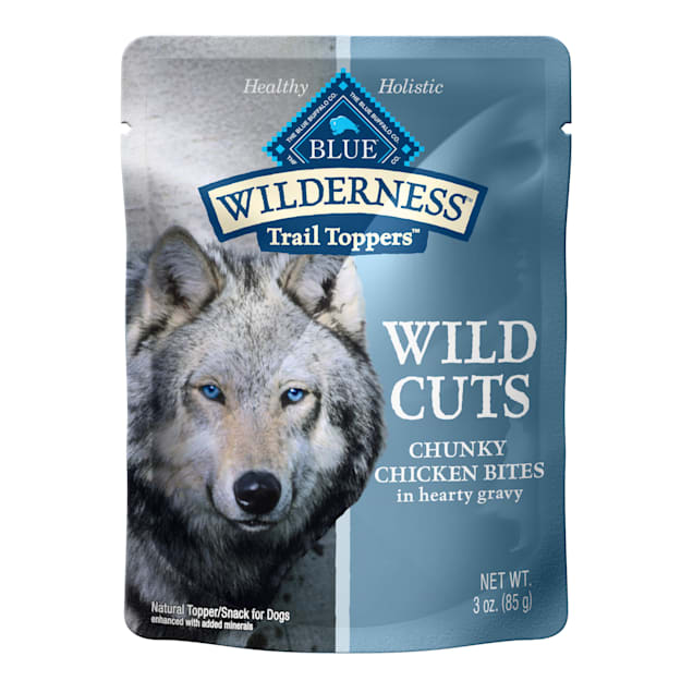 Blue Buffalo Blue Wilderness Trail Toppers Chicken Wild Cuts Dog Food Topper, 3 oz., Case of 24 - Carousel image #1