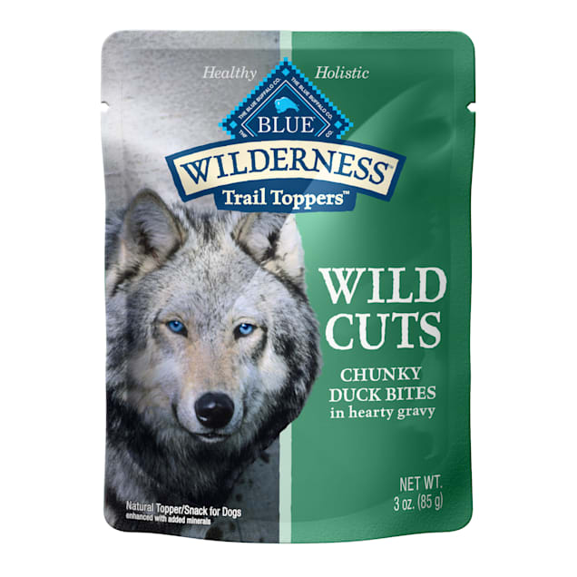 Blue Buffalo Blue Wilderness Trail Toppers Duck Wild Cuts Dog Food Topper, 3 oz., Case of 24 - Carousel image #1