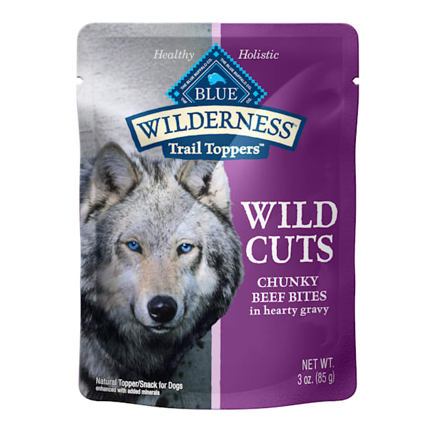 Blue Buffalo Blue Wilderness Trail Toppers Beef Wild Cuts Dog Food Topper, 3 oz., Case of 24 - Carousel image #1