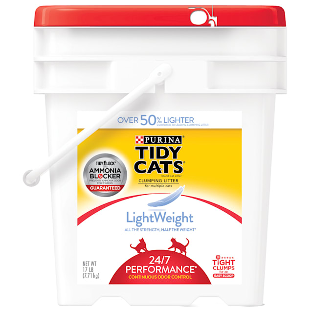 Purina Tidy Cats LightWeight 24/7 Performance Dust Free Clumping Multi Cat Litter, 17 lbs. - Carousel image #1