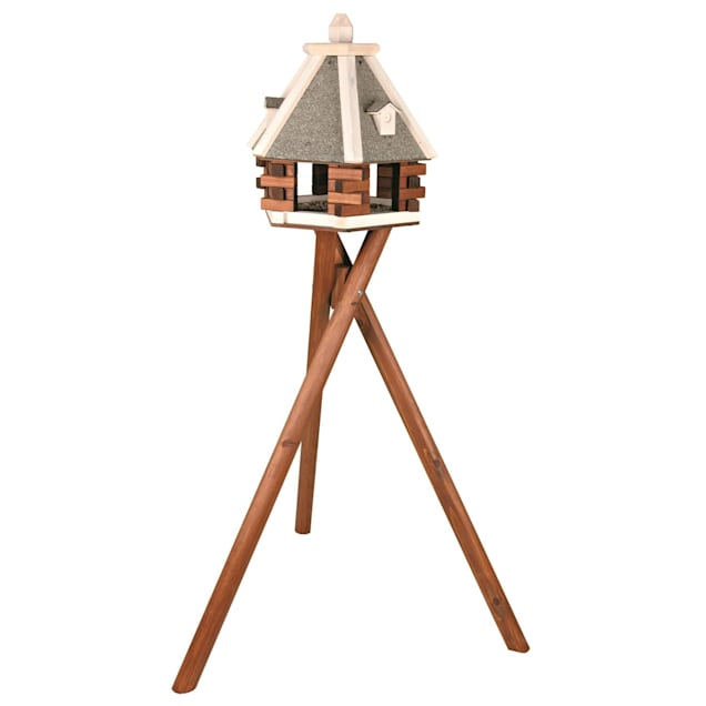 """TRIXIE Nordic Wooden Bird Feeder & Stand, 58"""" Height - Carousel image #1"""