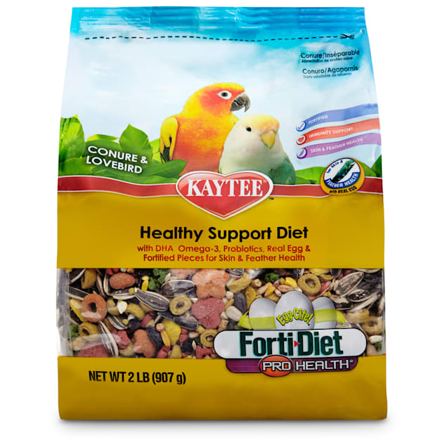 Kaytee Forti-Diet Pro Health Egg-Cite Conure & Lovebird Food, 2 lbs. - Carousel image #1