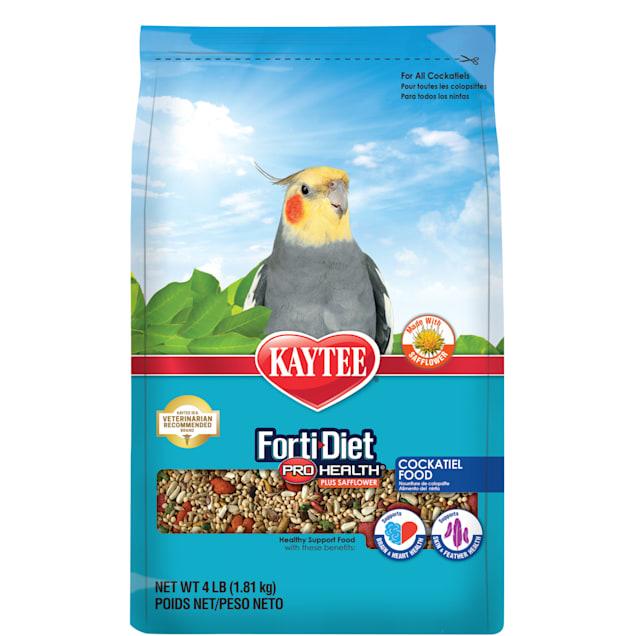 Kaytee Forti-Diet Pro Health Safflower Cockatiel Food, 4 lbs. - Carousel image #1