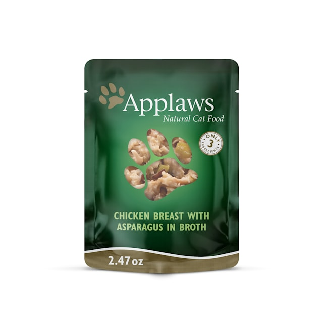 Applaws Natural Grain Free Chicken Breast with Asparagus in Broth Wet Cat Food, 2.47 oz., Case of 12 - Carousel image #1
