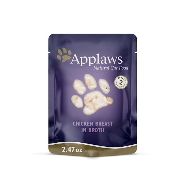 Applaws Natural Grain Free Chicken Breast in Broth Wet Cat Food, 2.47 oz., Case of 12 - Carousel image #1