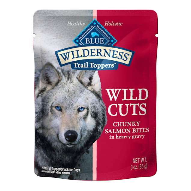 Blue Buffalo Blue Wilderness Trail Toppers Salmon Wild Cuts Dog Food Topper, 3 oz., Case of 24 - Carousel image #1