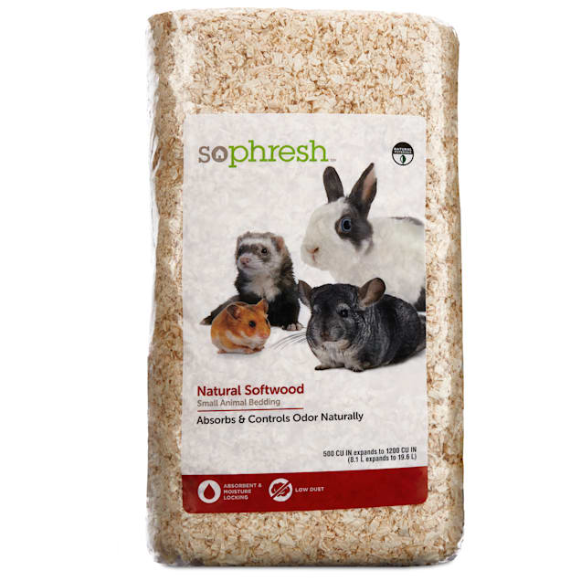 So Phresh Natural Softwood Small Animal Bedding, 8.1 Liters - Carousel image #1