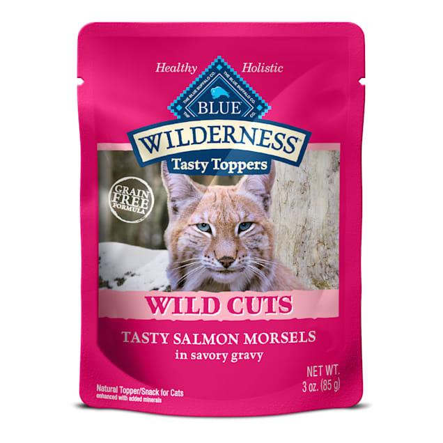 Blue Buffalo Blue Wilderness Wild Cuts Tasty Salmon Morsels Wet Cat Food, 3 oz., Case of 24 - Carousel image #1