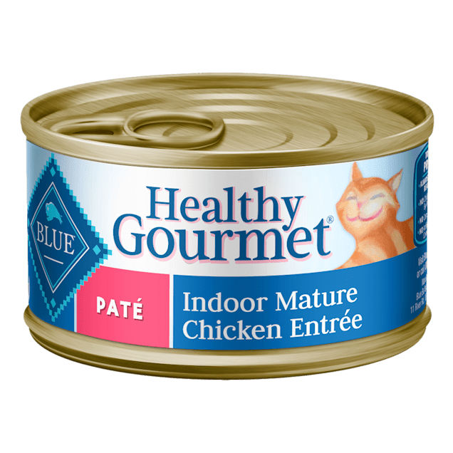Blue Buffalo Blue Healthy Gourmet Indoor Mature Chicken Entree Wet Cat Food, 3 oz., Case of 24 - Carousel image #1