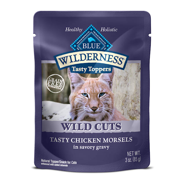 Blue Buffalo Blue Wilderness Wild Cuts Tasty Chicken Morsels Wet Cat Food, 3 oz., Case of 24 - Carousel image #1