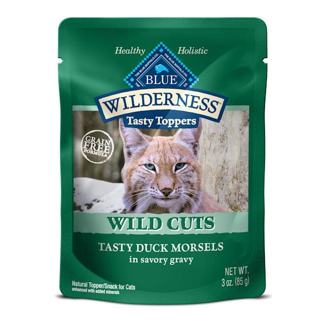 Blue Buffalo Blue Wilderness Wild Cuts Tasty Duck Morsels Wet Cat Food, 3 oz., Case of 24 - Carousel image #1