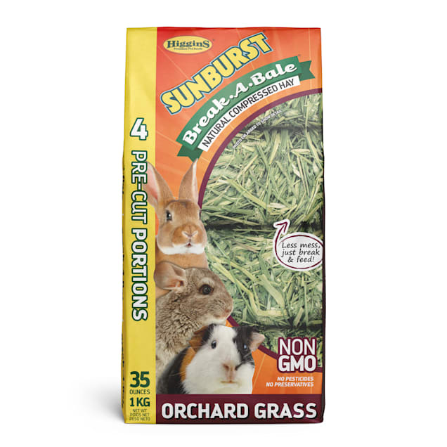 Higgins Sunburst Break-A-Bale Hay - Orchard Grass, 35 oz - Carousel image #1