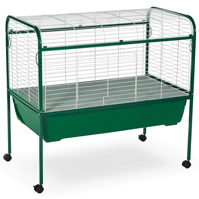 "Prevue Pet Products Green & White Small Animal Cage with Stand, 40"" L X 23.5"" W X 37"" H - Carousel image #1"