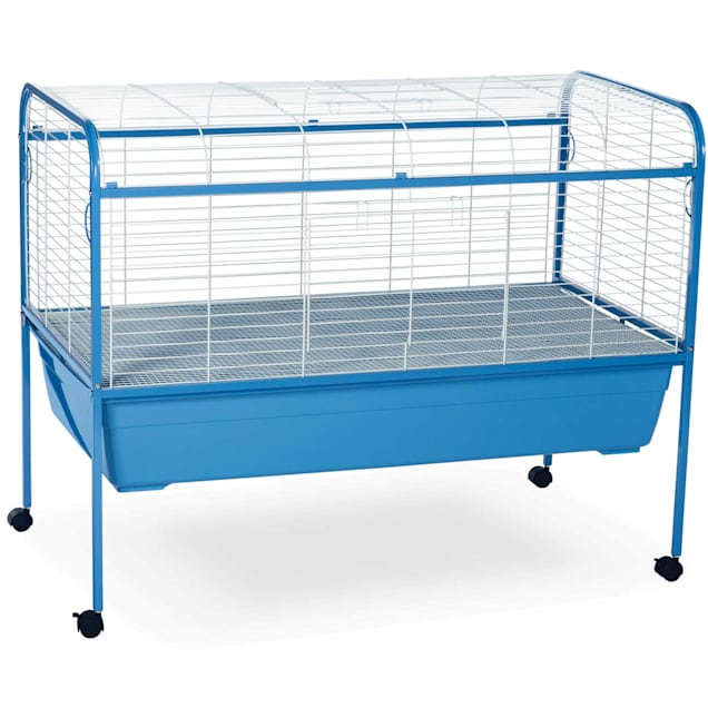 "Prevue Pet Products Blue & White Small Animal Cage with Stand, 47"" L X 25.5"" W X 37"" H - Carousel image #1"