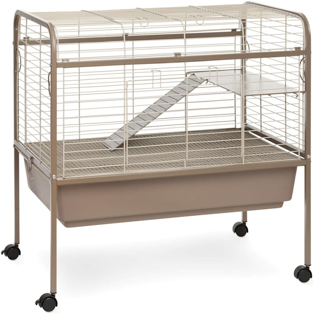 """Prevue Pet Products Cocoa & Cream Small Animal Cage with Stand, 33.5"""" L X 20.5"""" W X 33"""" H - Carousel image #1"""