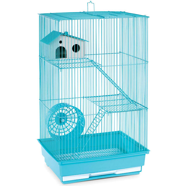 "Prevue Pet Products Three Story Mint Green Small Animal Cage, 14.5"" L X 11.75"" W X 22"" H - Carousel image #1"