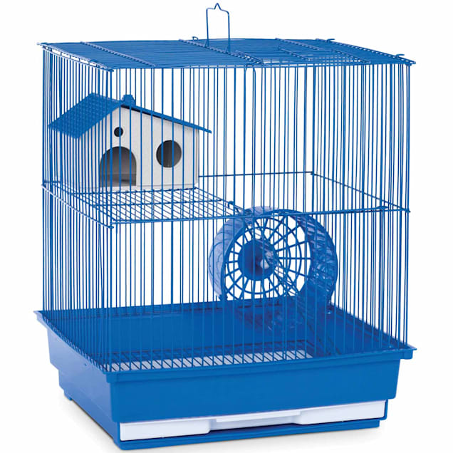 "Prevue Pet Products Two Story Blue Small Animal Cage, 14"" L X 11"" W X 15.25"" H - Carousel image #1"