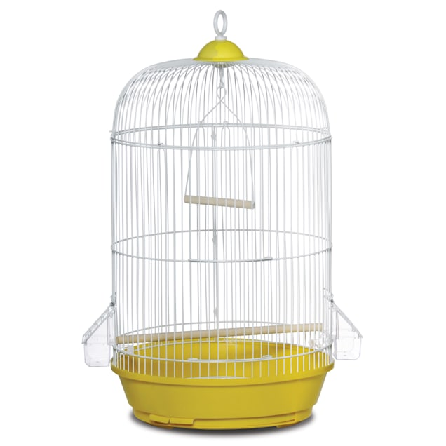 "Prevue Pet Products Classic Round Yellow Bird Cage, 24"" H X 13"" D - Carousel image #1"