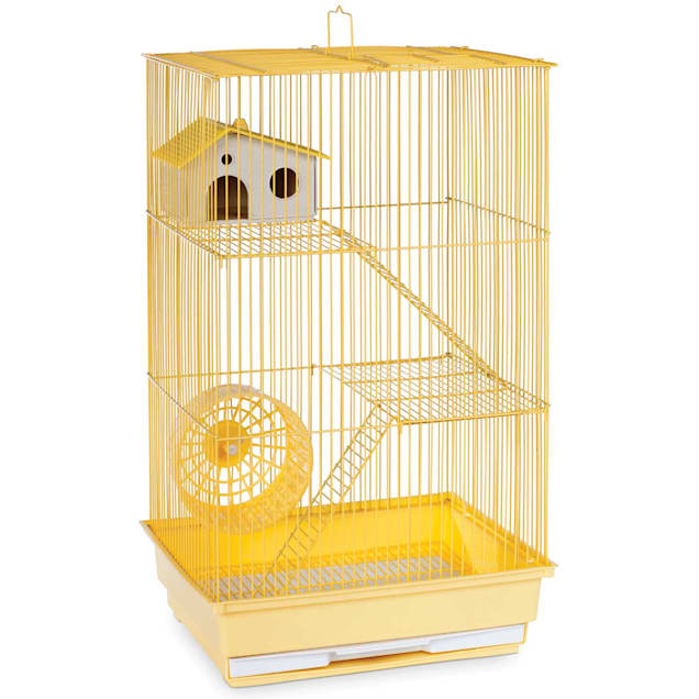 """Prevue Pet Products Three Story Yellow Small Animal Cage, 14.5"""" L X 11.75"""" W X 22"""" H - Carousel image #1"""