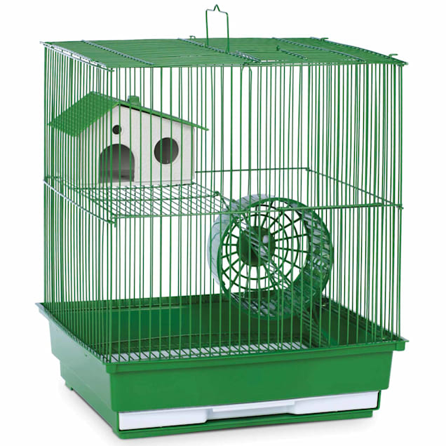"""Prevue Pet Products Two Story Green Small Animal Cage, 14"""" L X 11"""" W X 15.25"""" H - Carousel image #1"""