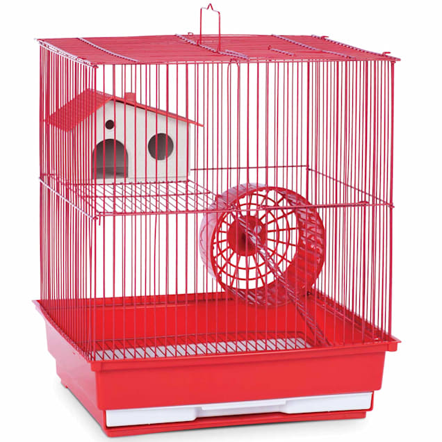 """Prevue Pet Products Two Story Red Small Animal Cage, 14"""" L X 11"""" W X 15.25"""" H - Carousel image #1"""