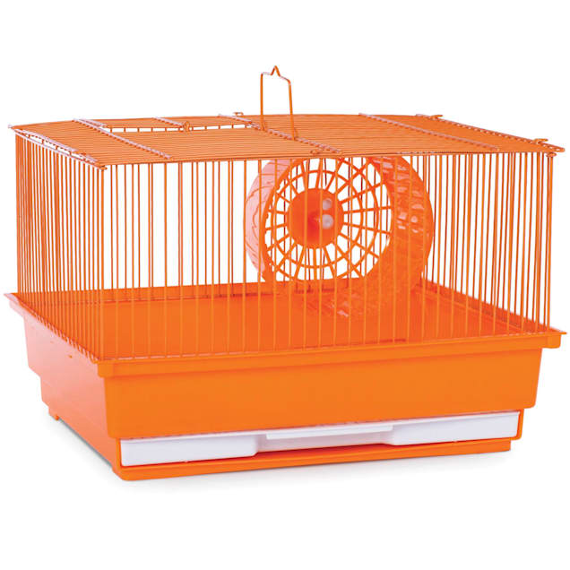 """Prevue Pet Products Single Story Orange Small Animal Cage, 14"""" L X 11"""" W X 8.75"""" H - Carousel image #1"""