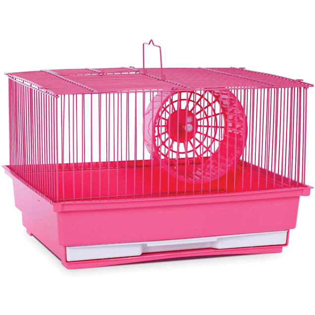 "Prevue Pet Products Single Story Pink Small Animal Cage, 14"" L X 11"" W X 8.75"" H - Carousel image #1"
