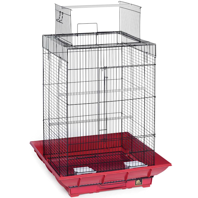 """Prevue Pet Products Clean Life Series Red & Black Playtop Bird Cage, 18"""" L X 18"""" W X 27"""" H - Carousel image #1"""