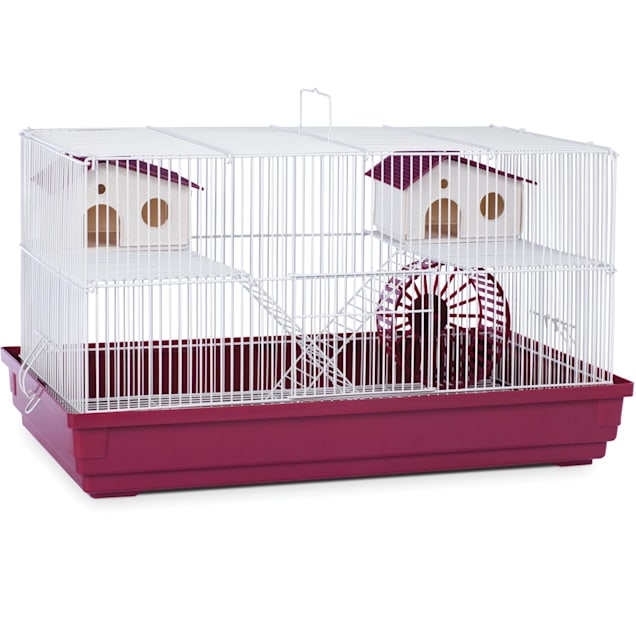 "Prevue Pet Products Bordeaux Red & White Deluxe Small Animal Cage, 23"" L X 12.75"" W X 12.75"" H - Carousel image #1"