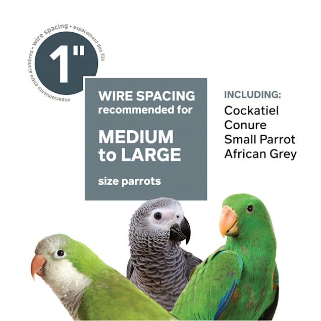 "Prevue Pet Products Chrome Parrot Cage, 20"" L X 20"" W X 29"" H - Carousel image #1"