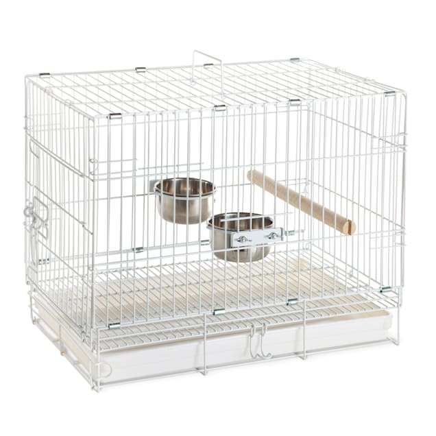 """Prevue Pet Products White Travel Bird Cage, 20"""" L X 12"""" W X 16"""" H - Carousel image #1"""