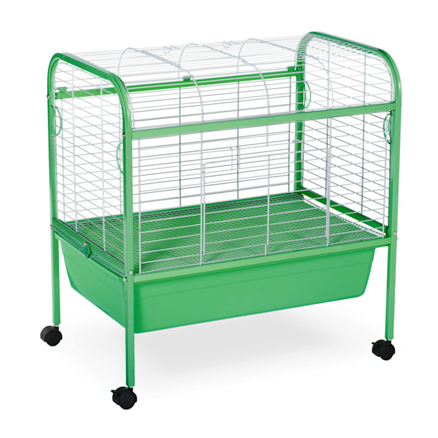 """Prevue Pet Products Grass Green & White Small Animal Cage with Stand, 29"""" L X 19"""" W X 31"""" H - Carousel image #1"""