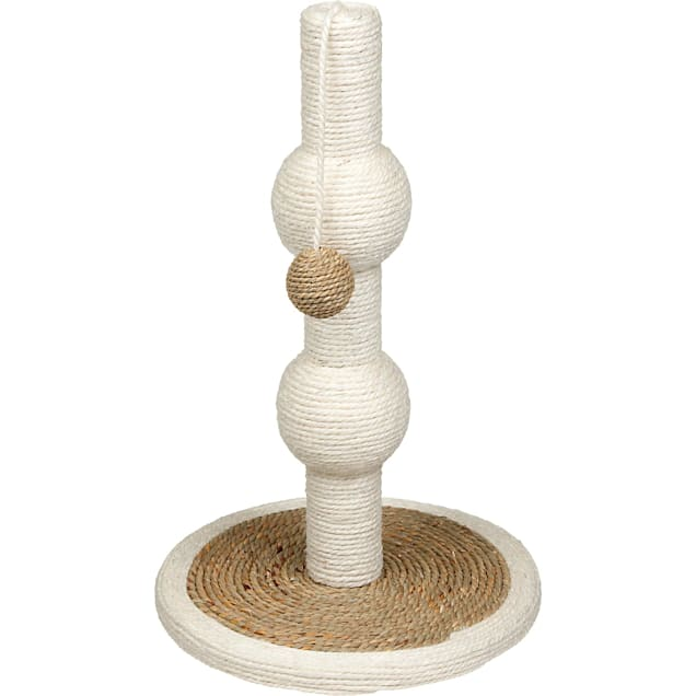 You & Me Sisal and Seagrass Orb Cat Scratching Post - Carousel image #1