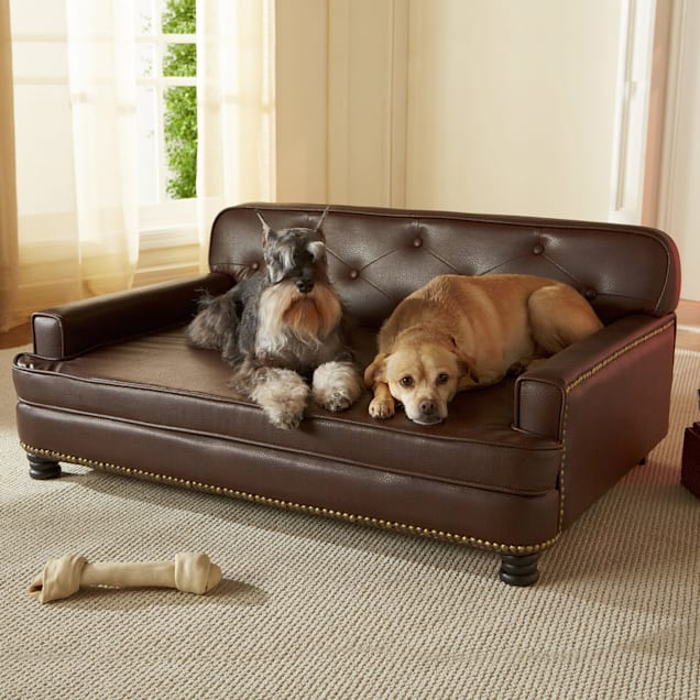 """Enchanted Home Pet Library Sofa Dog Bed in Brown, 40"""" L x 29.5"""" W - Carousel image #1"""