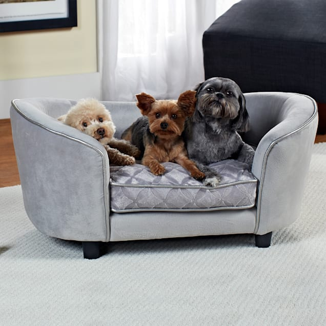 """Enchanted Home Pet Quicksilver Sofa Dog Bed in Gray, 34"""" L x 20.5"""" W - Carousel image #1"""