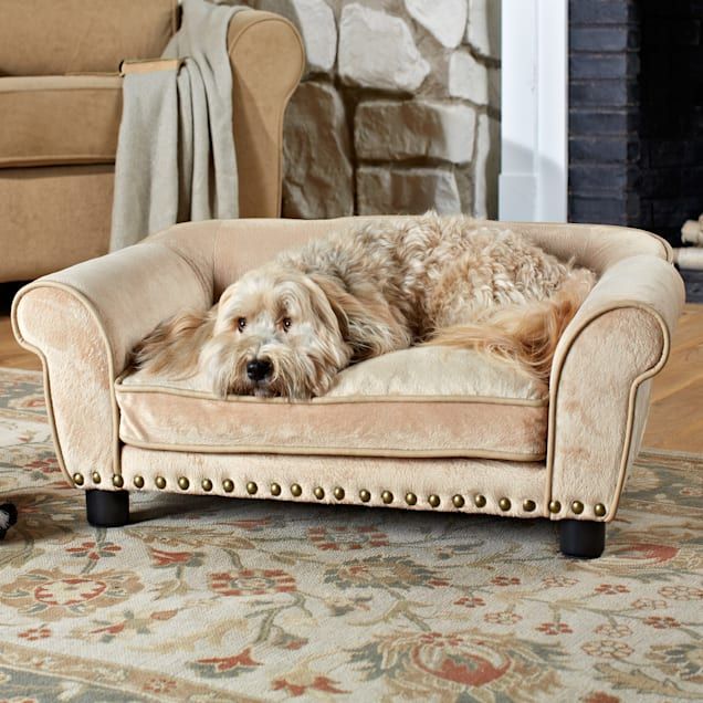 "Enchanted Home Pet Dreamcatcher Sofa Dog Bed in Cream, 33.5"" L x 21"" W - Carousel image #1"