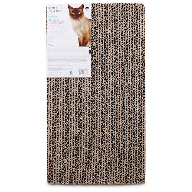 You & Me Double Wide Cardboard Cat Scratcher Refills, 2 Pack - Carousel image #1