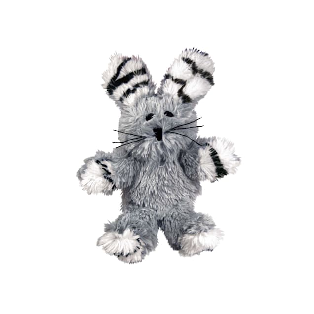 KONG Softies Fuzzy Bunny Cat Toy - Carousel image #1