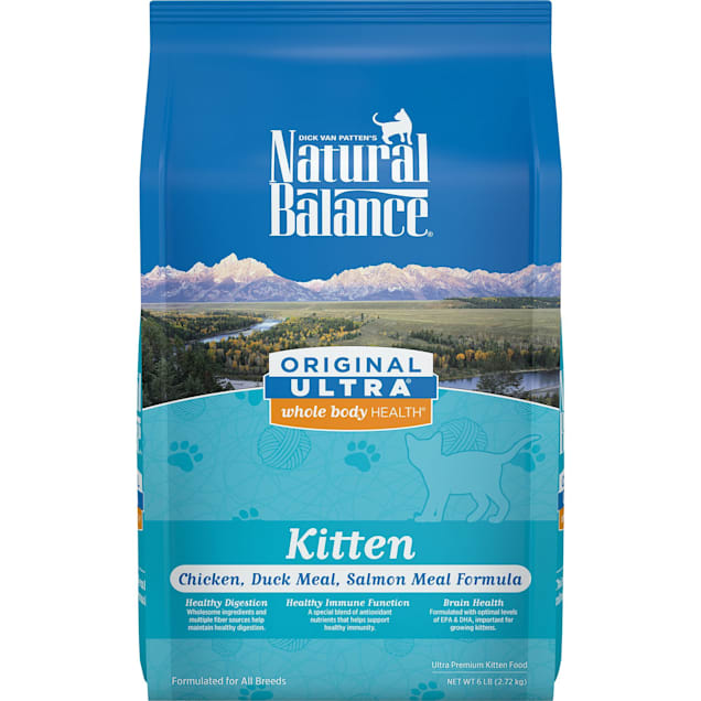 Natural Balance Original Ultra Whole Body Health Chicken, Duck Meal & Salmon Meal Kitten Food, 6 lbs. - Carousel image #1