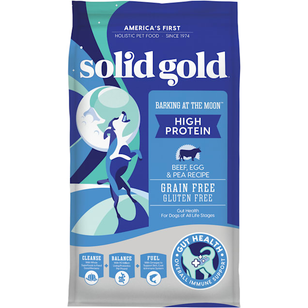 Solid Gold Barking at the Moon Beef, Eggs & Peas Grain Free Adult Dog Food, 24 lbs. - Carousel image #1