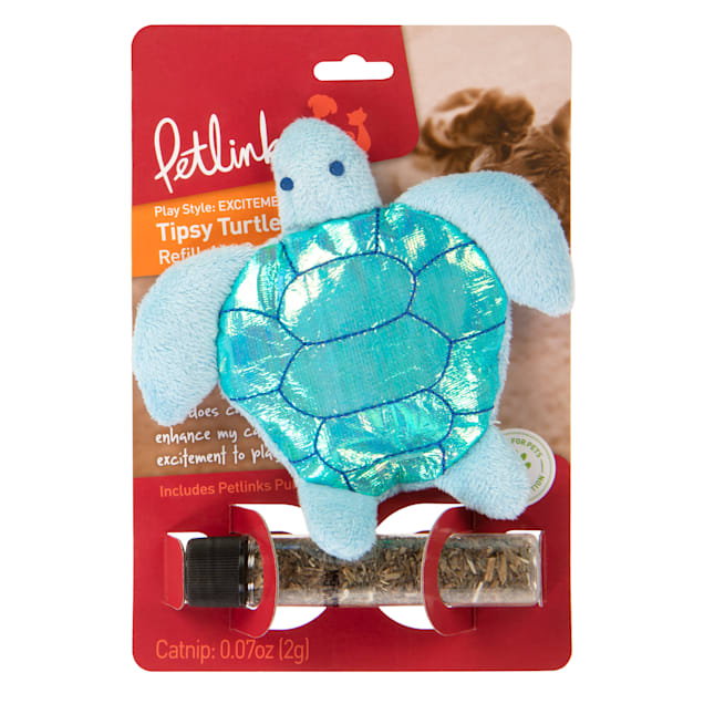 Petlinks Tipsy Turtle Cat Toy, Small - Carousel image #1