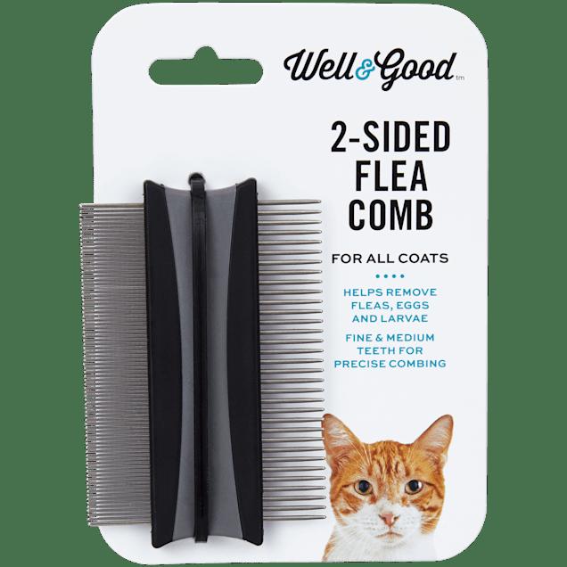 "Well & Good 2-Sided Cat Flea Comb, 3"" L X 2"" W - Carousel image #1"