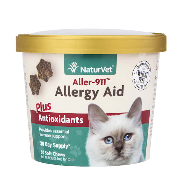 NaturVet Cat Allergy Aid Supplement, Pack of 60 Soft Chews - Carousel image #1
