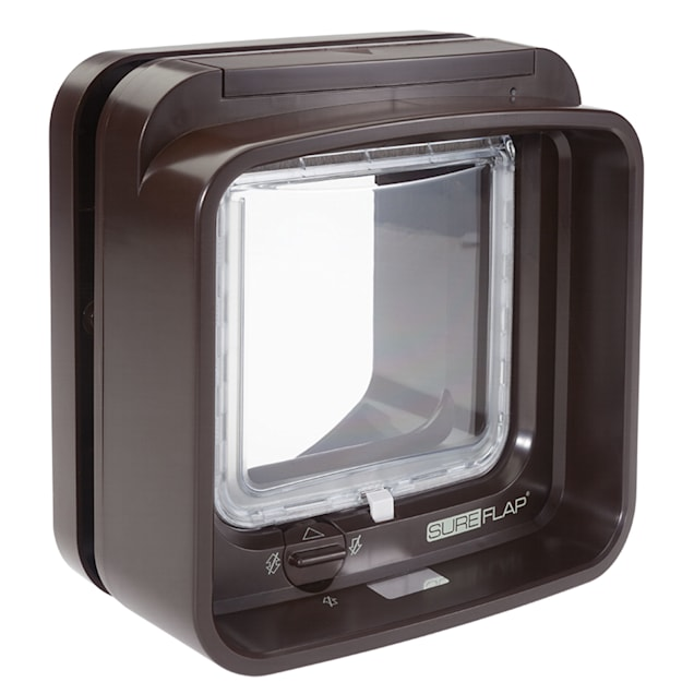SureFlap Microchip DualScan Cat Flap, Brown - Carousel image #1