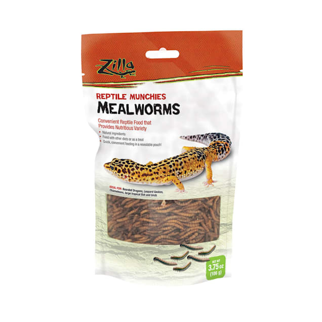 Zilla Munchies Mealworms Reptile Food, 3.75 oz. - Carousel image #1