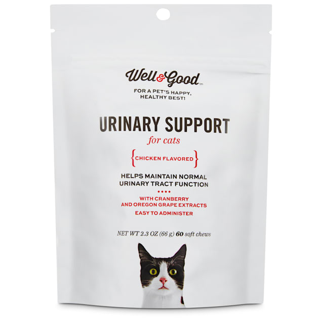 Well & Good Urinary Support Cat Chews, Pack of 60 chews - Carousel image #1