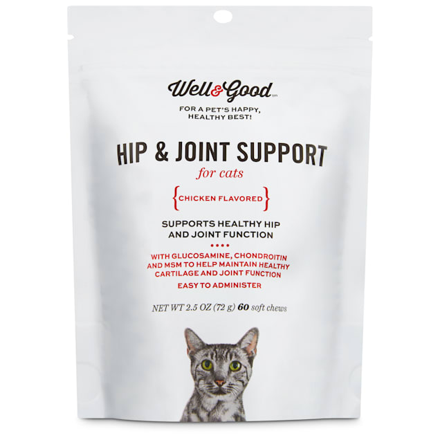 Well & Good Hip & Joint Support Cat Chews, Pack of 60 chews - Carousel image #1
