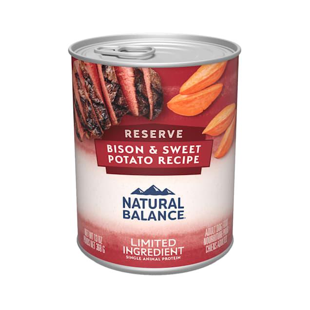 Natural Balance L.I.D. Limited Ingredient Diets Buffalo & Sweet Potato Formula Wet Dog Food, 13 oz., Case of 12 - Carousel image #1