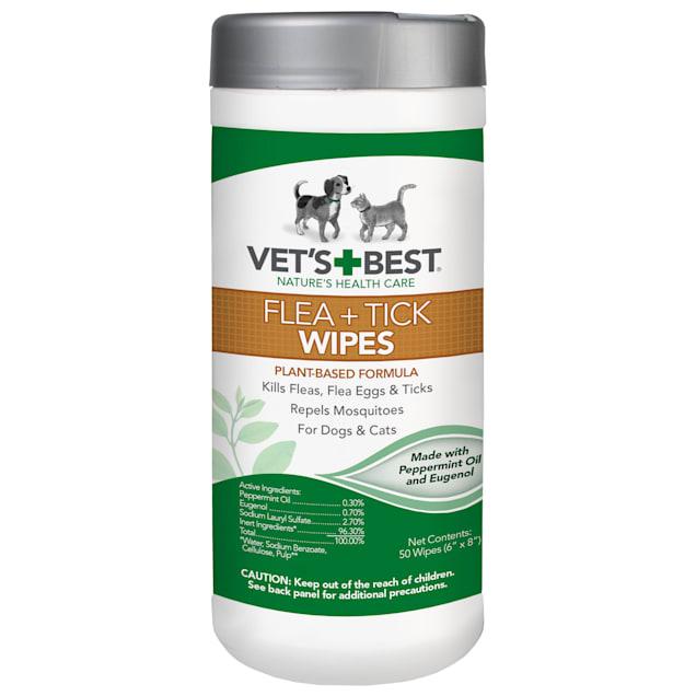 Vet's Best Flea + Tick Wipes, 50 ct - Carousel image #1