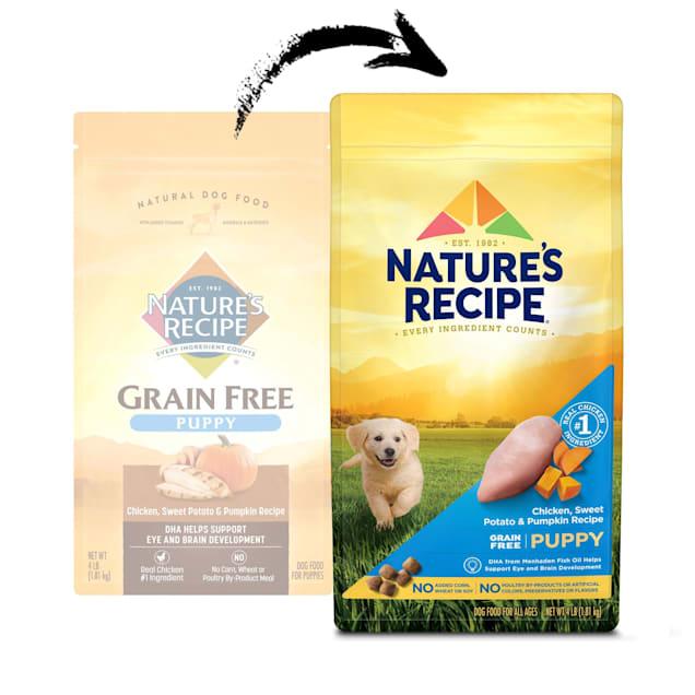 Nature's Recipe Chicken, Sweet Potato & Pumpkin Grain Free Puppy Food, 4 lbs. - Carousel image #1